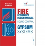 GA-600-15: Gypsum Fire Resistance Design Manual, 21st Edition
