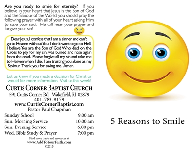 5 Reasons to Smile Gospel Tract