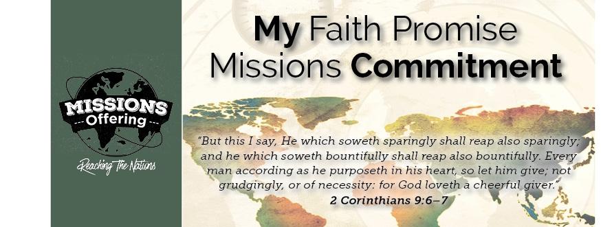 Custom Faith Promise Commitment Card - 150 count