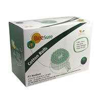 BeeSure® Cotton Rolls No. 2 - Medium, 24000 ct/case