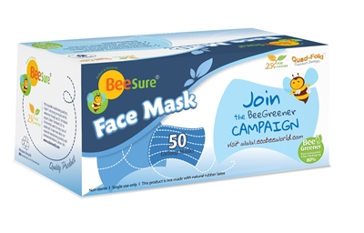 BeeSure® EarLoop, Non-Woven Face Masks: 400 ct/case