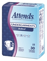 Attends Undergarments™ 6 Belted Style - Unisize: 30 ct/bag