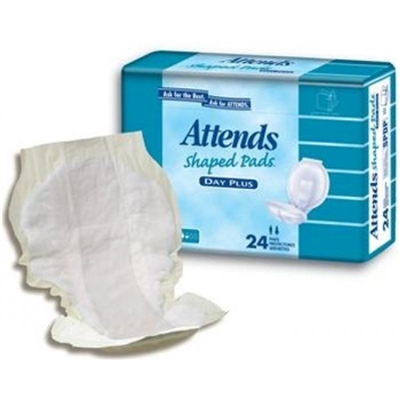 Attends® Shaped Pads (Day Plus Pad): 96 ct/cs