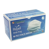 Cranberry Repel Anti-Fog 4-Ply Face Mask