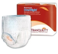 Tranquility Premium OverNight Disposable Underwear: Large, 64 ct/cs