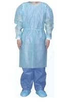 Isolation Gown with Knit Cuff: Blue, 10 ct/bag