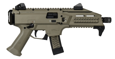 CZ Scorpion 9MM Pistol FDE 91352 NEW 1/2-28 Thread