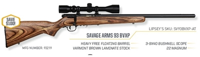 Savage 93BVXP .22MAG w/Scope 93219 NEW SALE!