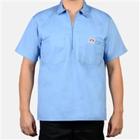 Ben Davis Solid 1/2 Half Zip Short Sleeve Shirt