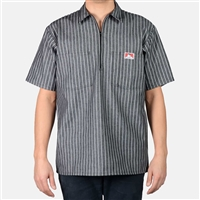 Ben Davis Stripe 1/2 Zip Short Sleeve Shirt
