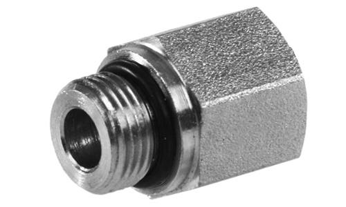 6410-20-24 Hydraulic Adapter 1 1//4 Male BOSS X 1 7//8-3//4 Female BOSS Carbon Steel