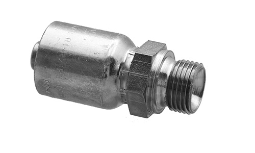 Single Fitting Hydraulic Crimp Fitting Bite The Wire Series 3//8 Hose X 1//4 Male Pipe Swivel NPTF