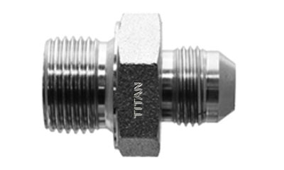 Male JIC/AN to Male BSPP Adapter-SS-9005 | Titan Fittings| Fittings