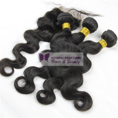 Brazilian Body Wave Bundles & Lace Closure