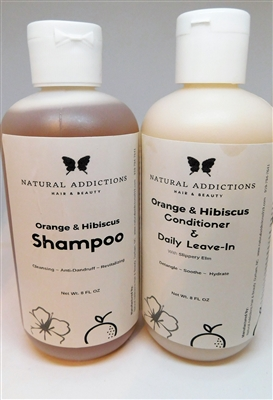 Orange and Hibiscus Shampoo and Conditioner