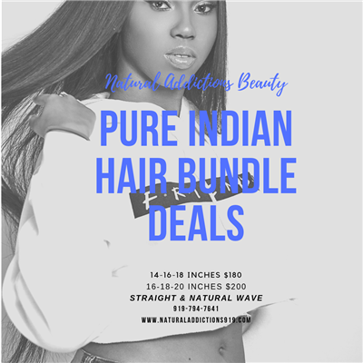 Raw Indian Straight Hair Bundles - Three Bundle Deal