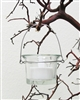 Hanging Votive Candle Holders, Flare Style, Clear