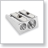 Cosmetic Pencil Sharpener Two Hole Metal Wedge