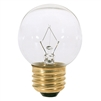 "Makeup Mirror Bulb Clear Globe 120v 40w approx 2 1/2"" Overall"