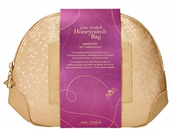 jane iredale Honeycomb Gold Makeup Bag