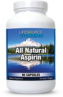 Aspirin - All Natural - 90 Capsules - Proprietary Formula - White Willow Bark