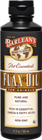Barlean's Pet Essentials - Flax Oil for Animals- 12 fl oz