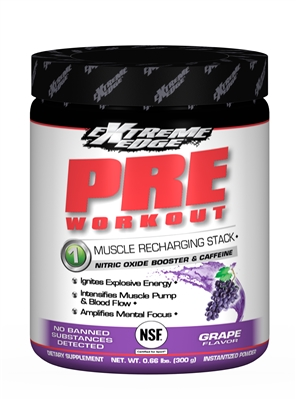 Bluebonnet Extreme Edge Pre Workout Formula  0.66 lb Vigorous Grape