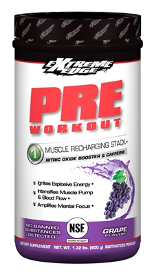 Bluebonnet Extreme Edge Pre Workout Formula  1.32 lb Vigorous Grape