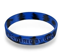 Driven by Faith & Powered By God Bracelet - Youth Royal/Black Swirl