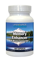 Memory Enhancer and Brain Connector - 180 Caps - Proprietary Formula NEW LARGER / VALUE SIZE