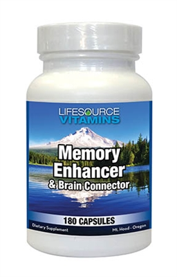 Brain Connector & Memory Enhancer - 180 Caps - Proprietary Formula NEW LARGER / VALUE SIZE