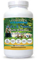 Kid's & Teen's Multivitamins & Minerals - 180 Chewable Tablets
