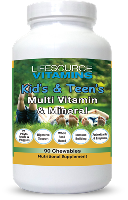Kid's & Teen's Multivitamins & Minerals -  90 Chewable Tablets