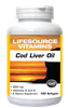 Cod Liver Oil Double Strength - 100 Softgels
