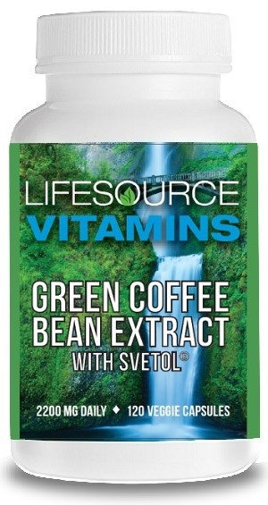 Lifesource Vitamins Green Coffee Bean Extract W Svetol 120