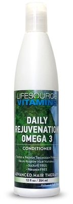 Daily Rejuvenation Conditioner: Omega 3 - Hair Conditioner 12 oz. by: LifeSource Vitamins