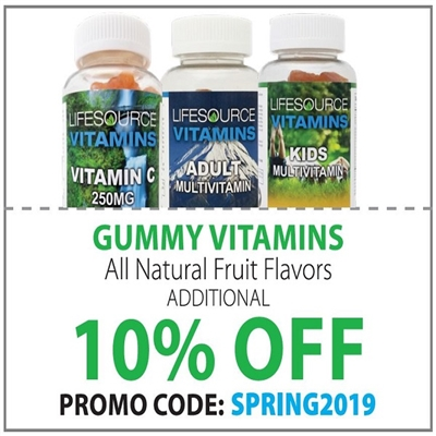 Gummy Vitamins 10% off: Code SPRING2019