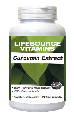 Curcumin from Standardized Turmeric Root Extract  60 Veg Capsules - 665mg
