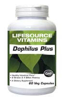 Dophilus Plus - 60 Veg Caps Probiotics - Enteric Coated