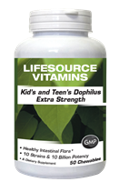 Kid's & Teen's Dophilus Probiotic Chewables Extra Strength- 50 Chewables
