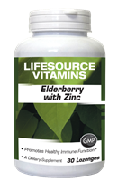 Elderberry with Zinc - 30 Lozenges