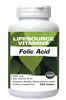 Folic Acid 800 mcg (1,333 mcg DFE) plus B12 - 250 Tablets