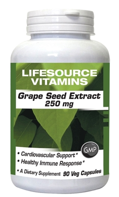 Grape Seed Extract 250 mg - 90 Veg Capsules -New Higher Dose