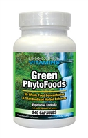 Green Phyto Foods - 240 Capsules - Proprietary Formula - Organic Whole Food VALUE SIZE