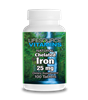 Iron - Chelated - 25 mg 100 tablets