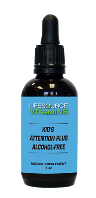 Kids & Teens Attention Plus (Alcohol Free) Liquid Extract - 1 fl. oz.