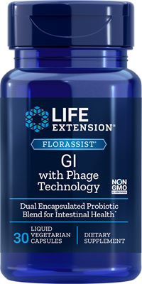Life Extension - FLORASSIST GI with Phage Technology  30 Liquid Vegetarian Capsules