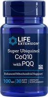 Life Extension - Super Ubiquinol CoQ10 with PQQ 100mg- 30 softgels