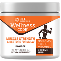 Life Extension - Wellness Code Muscle Strength and Restore Formula- 3.32 oz