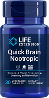 Life Extension -Quick Brain Nootropic -30 Vegetarian Capsules